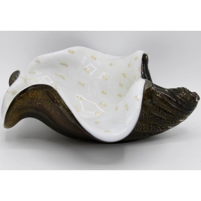 Mid-Century Murano Glass Conch Shell Bowl For Sale - Image 13 of 13