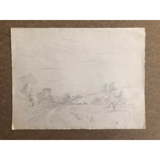 1930s Vintage Eliot Clark American Impressionist Landscape Drawing For Sale In Greenville, SC - Image 6 of 6