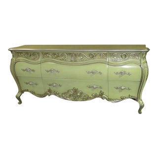 1950s Tuscan Romweber Ornate Bombe Dresser For Sale