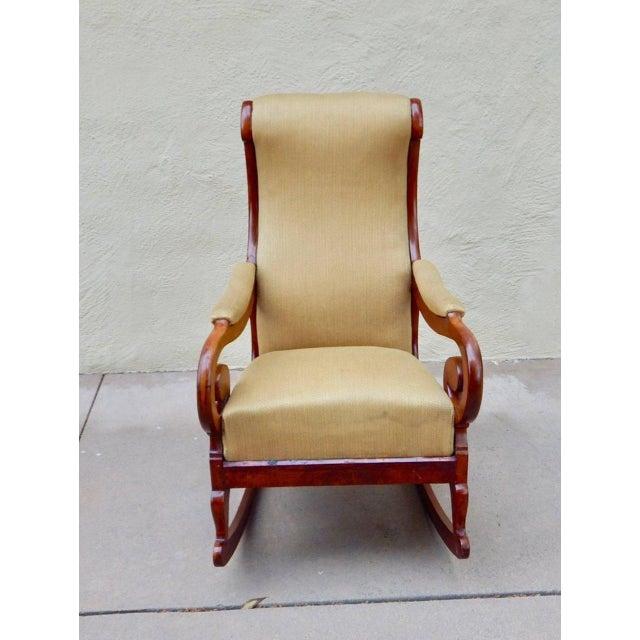 19th Century Antique Swedish Biedermeier Rocking Chair For Sale In Richmond - Image 6 of 13