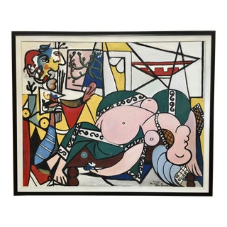 Picasso Style Painting by Ellen Schraeder For Sale