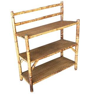 Tiger Bamboo Three-Tier Book Shelf
