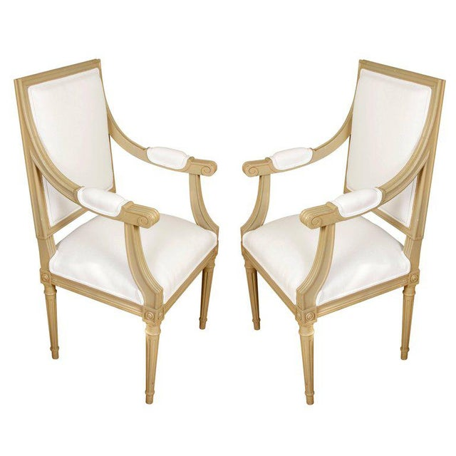 Set of Ten Louis XVI Style Dining Chairs - Image 2 of 9