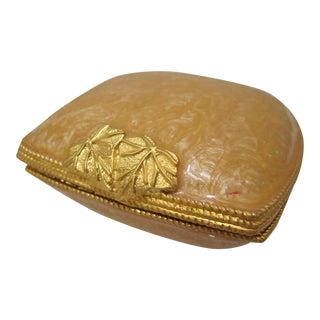 Orange Oyster Style Pastel Trinket Case