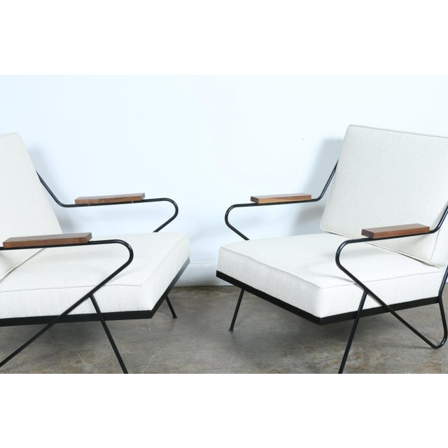Wrought Iron Modern Chairs - A Pair - Image 5 of 9