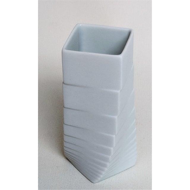 Rosenthal 1970s Mid-Century Modern Hausler-Goltz for Rosenthal White Ceramic Vase For Sale - Image 4 of 11