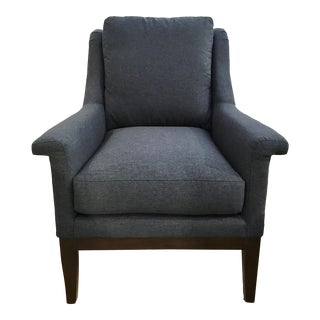 Hickory White Modern Blue Michelle Lounge Chair 5906-01 For Sale