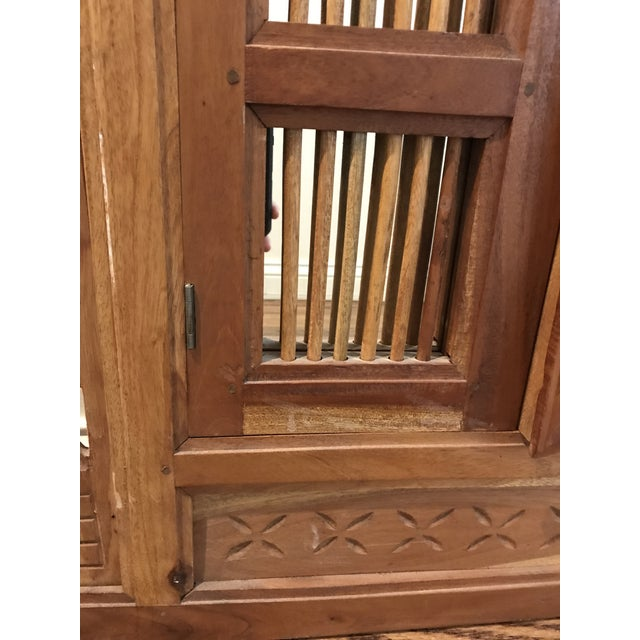 British Colonial Pierced Shutter Door Mirror For Sale In Chicago - Image 6 of 11