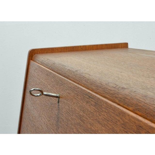 Brown Mid-Century Scandinavian Design Teak Writing Desk, Scandinavia, 1960s For Sale - Image 8 of 11