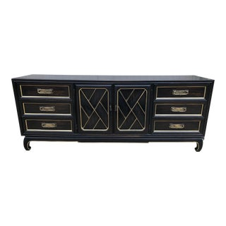 1960s Chinoiserie Style Credenza Dresser For Sale