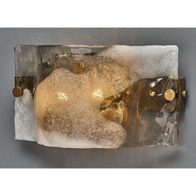 Mazzega Murano Set of Four Murano Glass Mazzega Sconces For Sale - Image 4 of 9