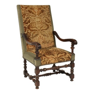 1890s Renaissance Revival-Style Armchair For Sale