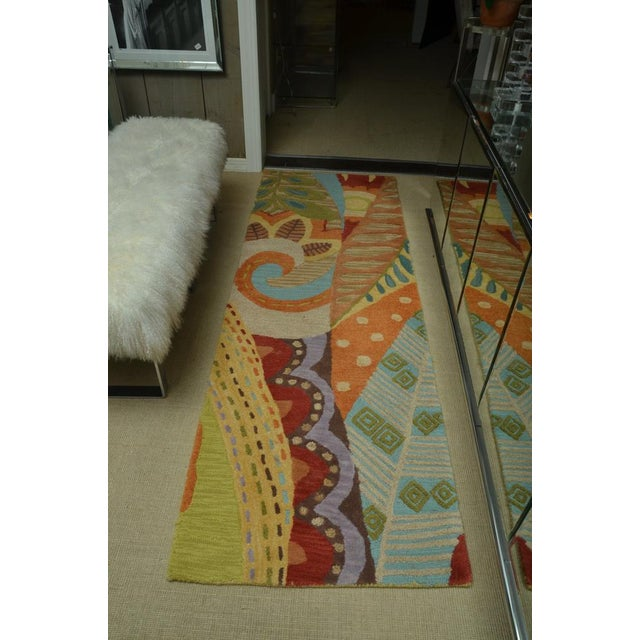 Attractive Carpet Runner in Multi-Colored Deco Pattern - Image 2 of 9
