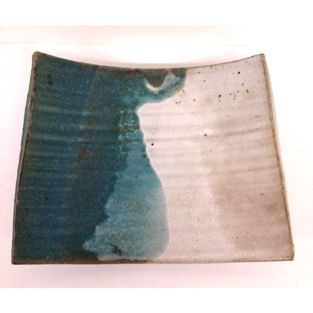 Mid-Century Artisan Ceramic Sushi Tray For Sale - Image 4 of 10
