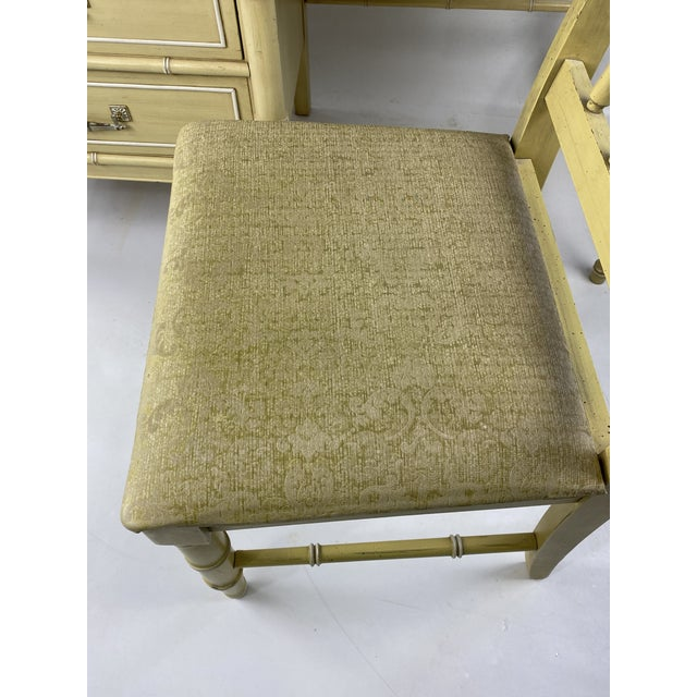 """Faux Bamboo 1960s Hollywood Regency Henry Link """"Bali Hai"""" Faux Bamboo Desk W/ Chair - 2 Pieces For Sale - Image 7 of 11"""