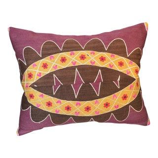 Antique Suzani Textile Pillow For Sale