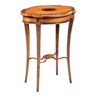 Scarborough House Yew Wood Burl Walnut End Table For Sale