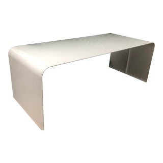 Mid-Century Modern Steel Waterfall Dining Table For Sale