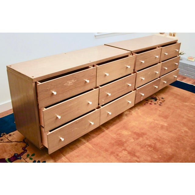 Midcentury Modern 6-Drawer Dressers, a Pair - Image 4 of 11