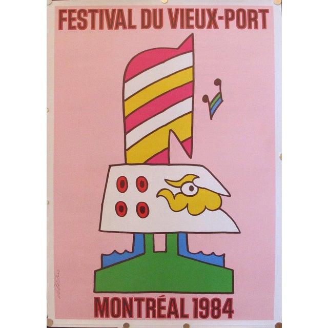 1984 Vintage Travel Poster, Festival du Vieux Port Montreal - Image 2 of 2