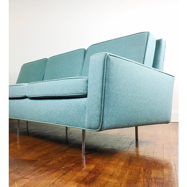 Knoll Blue Florence Knoll Sofa For Sale - Image 4 of 11