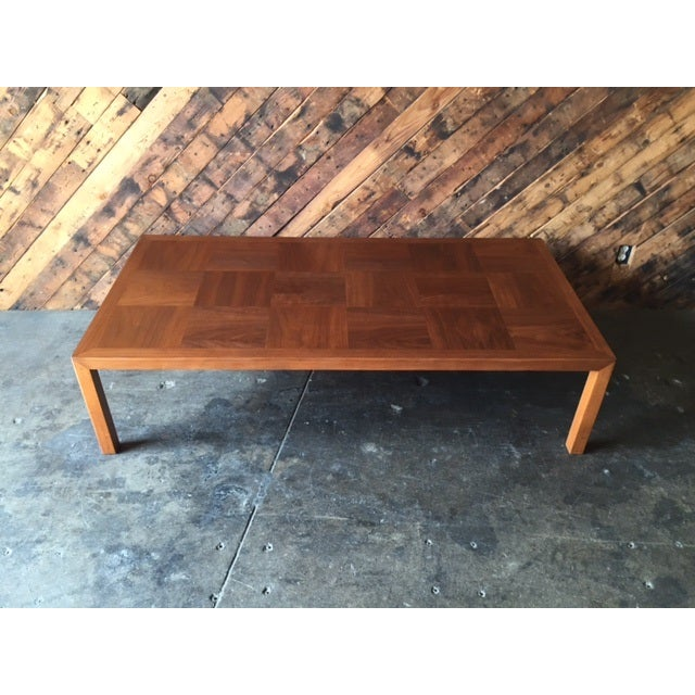 Mid-Century Refinished Parsons Style Coffee Table - Image 2 of 7