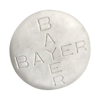 Vintage Pop Art Plaster Bayer Aspirin