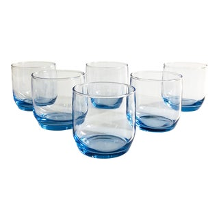 Vintage Periwinkle Lowball Tumblers - Set of 6 For Sale