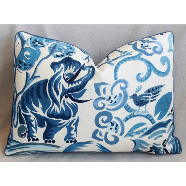 """P. Kaufmann Blue & White Animal Feather/Down Pillows 22"""" X 16"""" - Pair For Sale In Los Angeles - Image 6 of 13"""