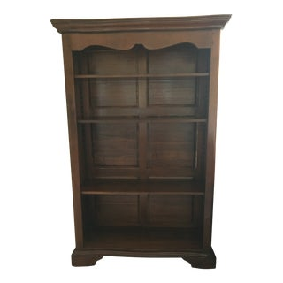 Hand Carved Mahogany Bookshelf For Sale