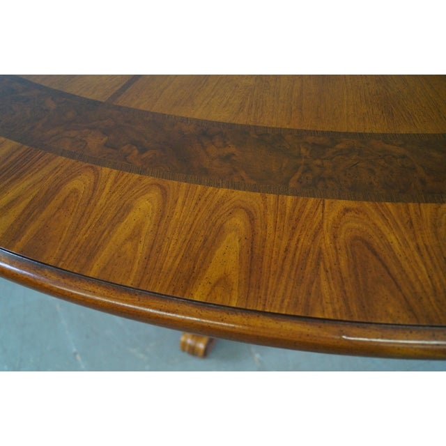 Henredon Louis XV Mahogany Inlaid Dining Table - Image 7 of 10