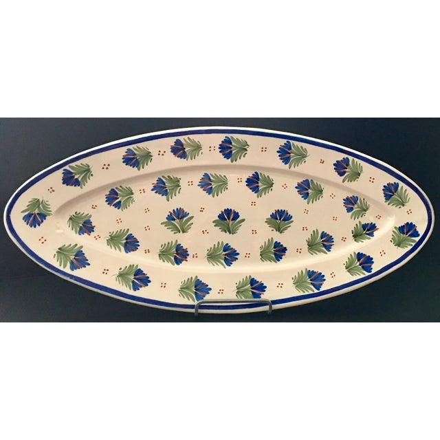 Ceramic Antique French Provincial Henriot Quimper Faience Platter For Sale - Image 7 of 7