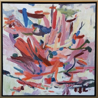 Original Laurie MacMillan Pink Abstract Painting For Sale