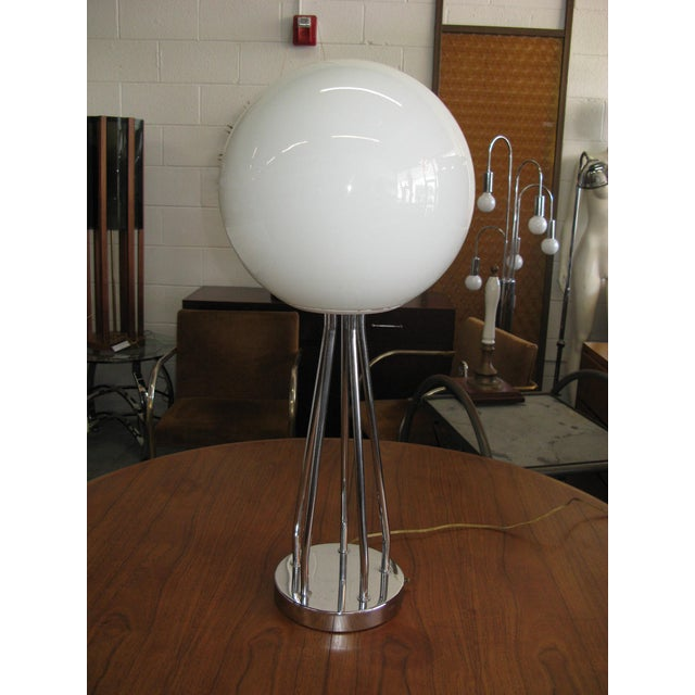 Mid-Century Modern Chrome Table Lamp - Image 6 of 11