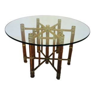 Vintage McGuire Furniture Bamboo Dining Table Mid Century
