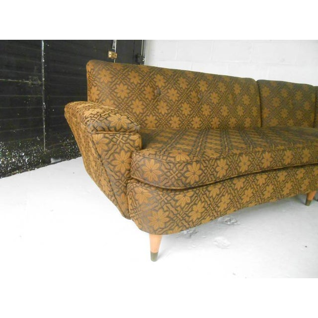 Mid-Century Modern Three Piece Sectional Sofa - Image 6 of 8