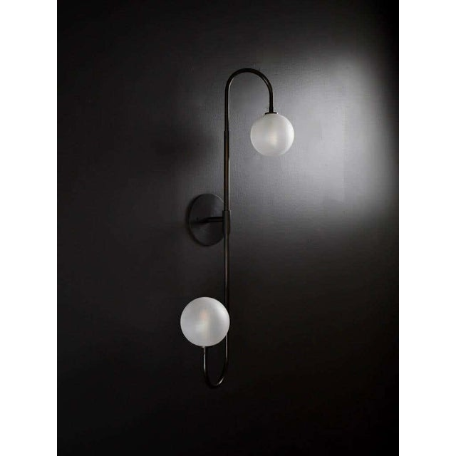 Not Yet Made - Made To Order Piega Wall Lamp or Flushmount in Oil-Rubbed Bronze & Glass by Blueprint Lighting For Sale - Image 5 of 8