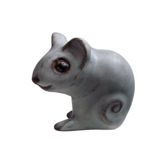 Andersen Design Gray Mouse Figurine For Sale