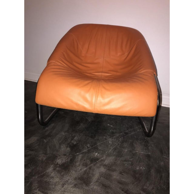 Leather Orange Minotti Chairs - a Pair For Sale - Image 7 of 8