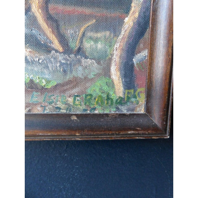 1950s Spanish Colonial Scene Oil Painting by Elsie Graham, Framed For Sale In San Francisco - Image 6 of 8