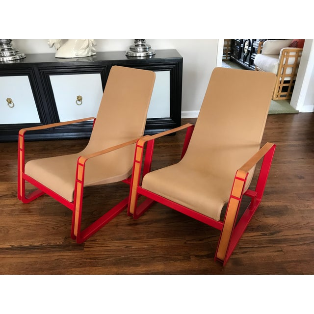 Jean Prouve for Vitra Cite Lounge Chair With Steel Frame and Leather Buckles- Pair For Sale - Image 13 of 13