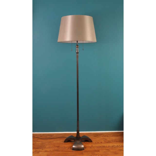 Large Brass Floor Lamp, Bag Turgi, Zurich, Switzerland, Circa 1940s For Sale - Image 11 of 11