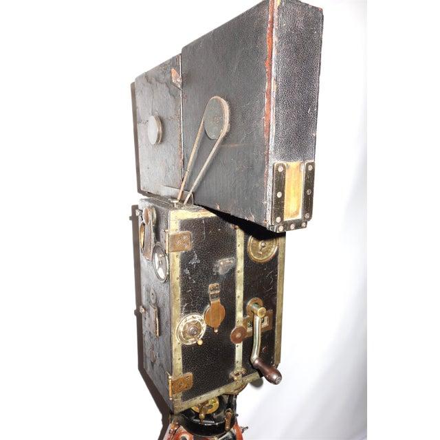 Pathe 35mm Professional Type X Cinema Film Studio Camera. Rare Circa 1908-12. One of a Kind. Unrestored. For Sale - Image 4 of 11