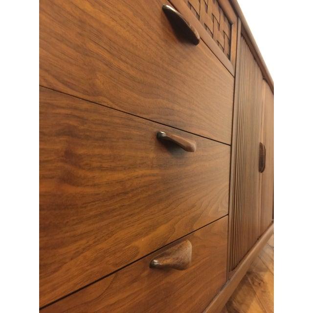 Brown Lane Perception Mid-Century Lowboy Dresser For Sale - Image 8 of 10