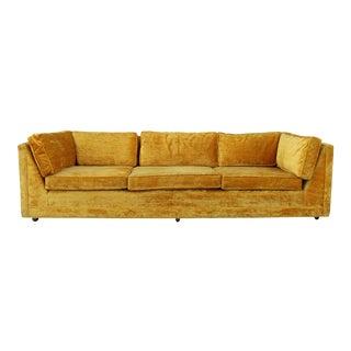 1960s Vintage Velvet Crush Sofa For Sale