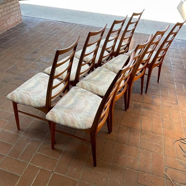 1960s Danish Modern Koefoeds Hornslet Teak Ladder-Back Dining Chairs - Set of 8 For Sale - Image 5 of 13
