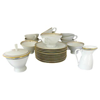 Mid-Century Porcelain Tea Set - Set of 26 For Sale