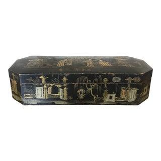 Vintage Chinoiserie Black and Gilt Box