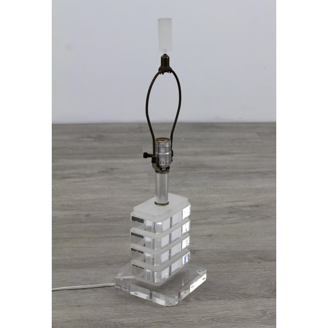 1980s Stacking Lucite Table For Sale - Image 4 of 5