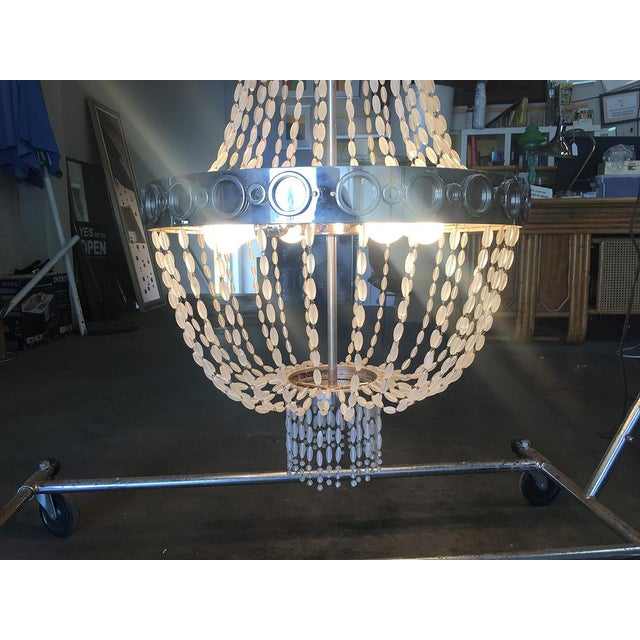 2010s Troy by Zia Priven Beaded Crystal Basket Form Chandelier For Sale - Image 5 of 8